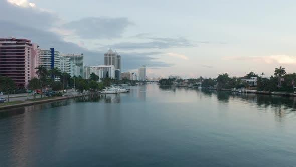 Miami Beach Canal Aerial