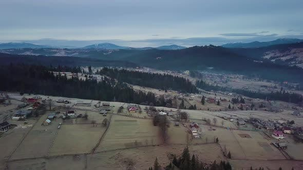 Thumbnail for Flight Over the Village in the Carpathian Mountains