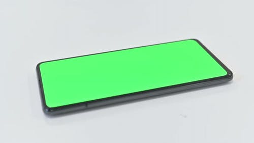 Rotating Green Key Smartphone, Chroma Key