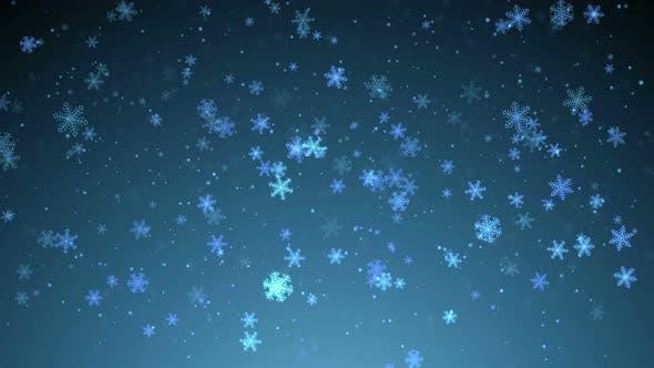 Christmas Snow Greeting 4K