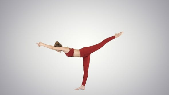 Thumbnail for Tuladandasana oder Balancing Stick Pose ist ein fortgeschrittenes Yoga