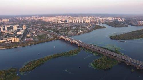 Bridge Sunset On River