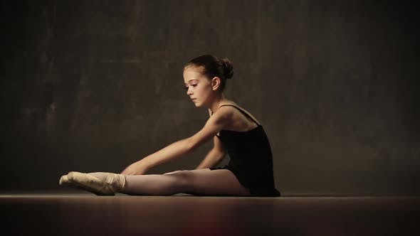 Thumbnail for Young Ballerina Posing In Studio