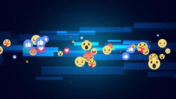 Facebook Reaction Emoji Background