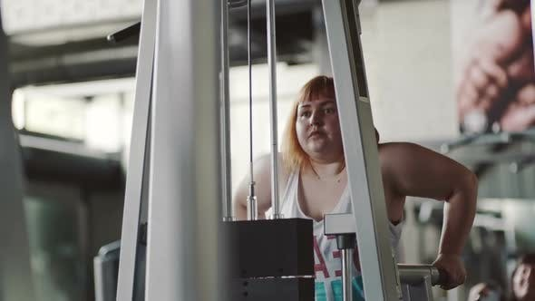 Thumbnail for Fat Woman Doing Dips to Lose Weight