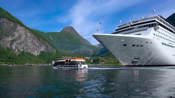 Cover Image for Cruise Liners on Geiranger Fjord, Norway