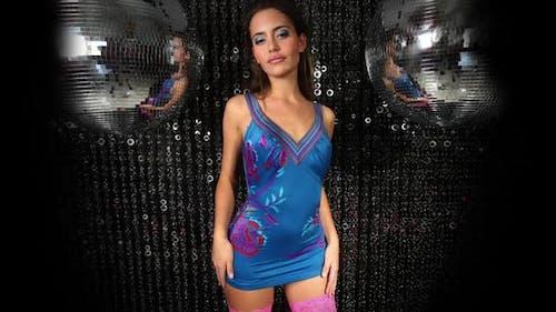 Disco woman fashion discoball glitterball party music