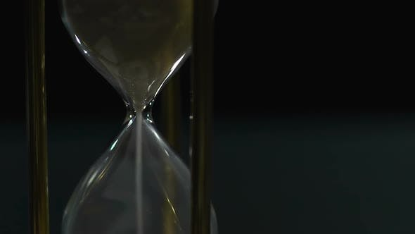 Thumbnail for Hourglass Measuring Minutes, Sand Dropping and Time Passing Fast, Sequence