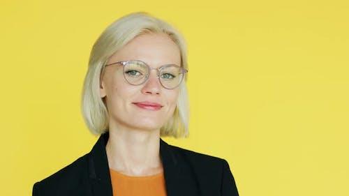 Elegant Businesswoman in Glasses