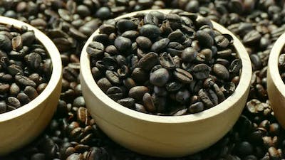 A lot of Coffee bean