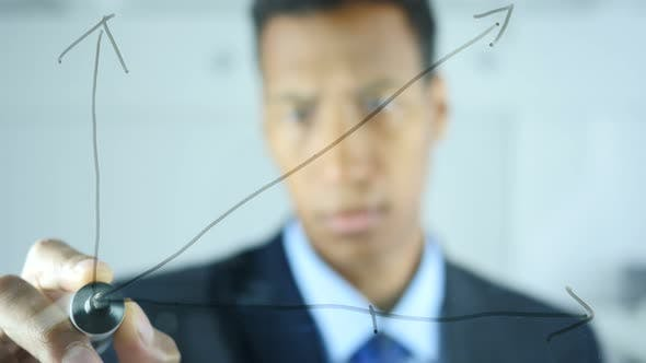 Thumbnail for Drawing Growth Graph on Transparent Glass in Office
