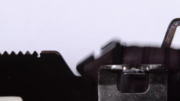 Thumbnail for New Technology for Printing on Retro Typewriters. Close Up