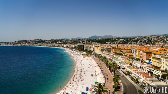 Thumbnail for 6K Time-lapse Aerial View of Nice France