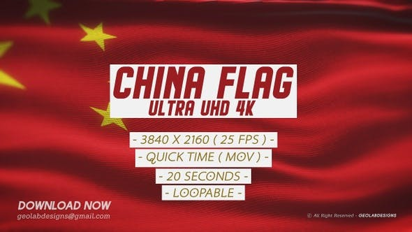 Thumbnail for China Flag  - Ultra UHD 4K