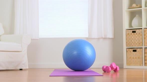 Thumbnail for Exercise equipment in living room