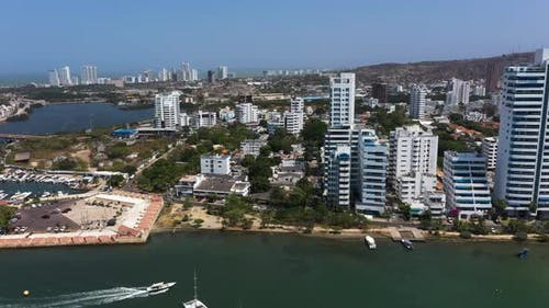 Yacht Club in a Beautiful Bay in Cartagena, Colombia