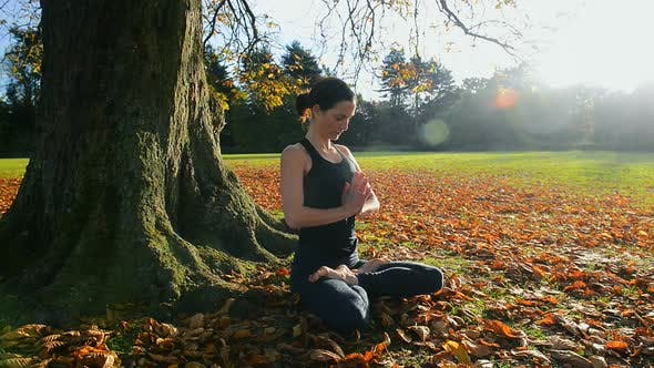 Cover Image for Woman in Yoga Lotus Pose