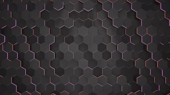 Dark black hex grid background