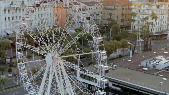 Thumbnail for Cannes Port Ferris Wheel and City Center