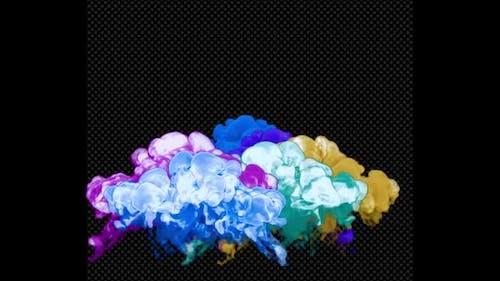 Multicolored Colorful Smoke Explosions