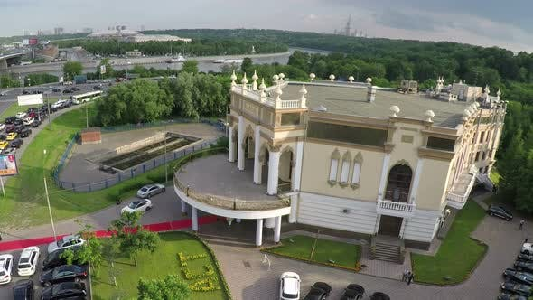 Aerial view of celebration hall in Moscow