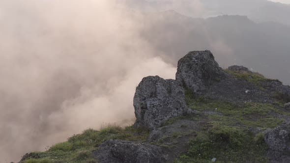 Thumbnail for Trabzon City Over The Clouds And Rocks Aerial View