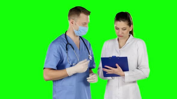 Thumbnail for Surgeon Giving Instructions, Green Screen