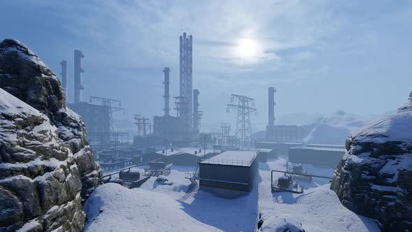 Factory In The Winter Mountains