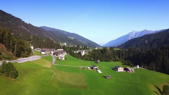 Austrian Small Town in Alps