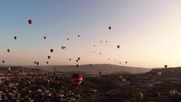 Thumbnail for Cappadochia Hot Air Balloons Sunset