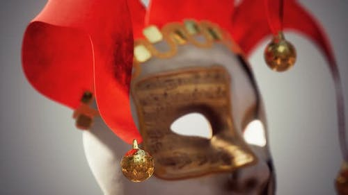 Venetian Carnival Masks with Gold