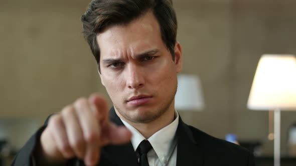 Thumbnail for Angry Man Pointing toward Camera with Finger