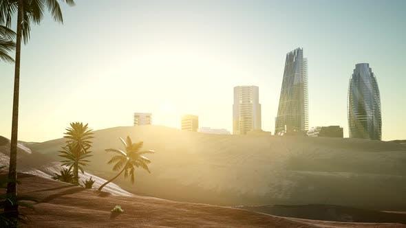 Thumbnail for City Skyscrapes in Desert