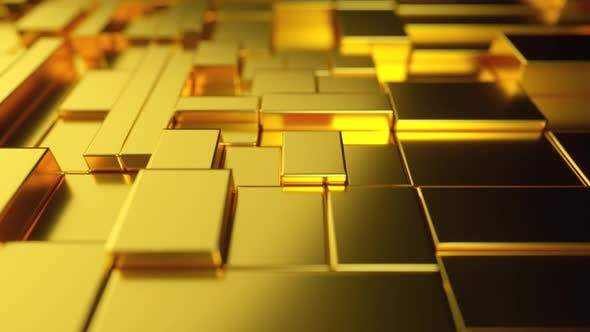 Abstract Moving Surface Made of Gold