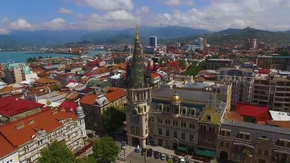 Thumbnail for Rooftops of Buildings in Batumi, Georgia, Resort City Luxurious Real Estate