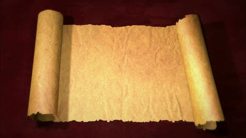 Unfolding Old Paper Scroll 3D With Alpha Channel
