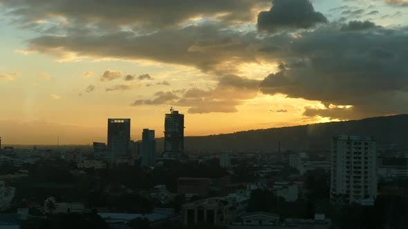Sunset time lapse from Cebu city in the Philippines