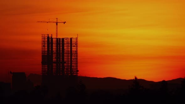 Thumbnail for Construction Sunrise Time Lapse Los Angeles