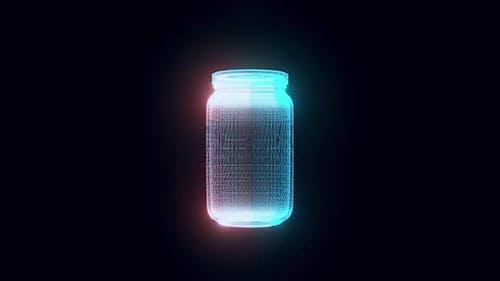Jar Hologram 4k