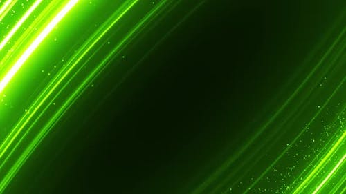 Green Glowing Particles Background