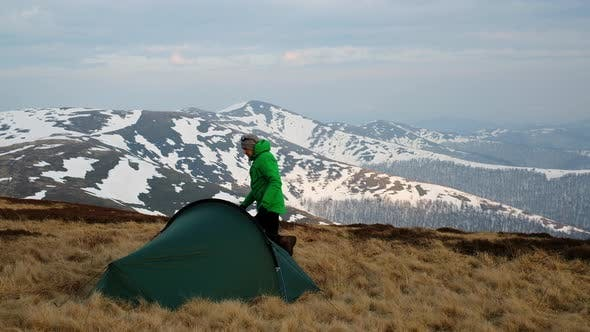 Cover Image for Tourist Near His Tent
