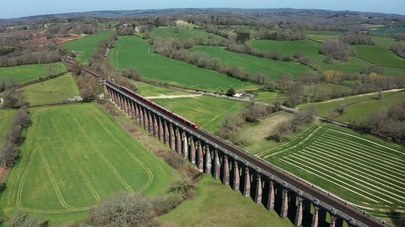 Train on Railway Drone 4k