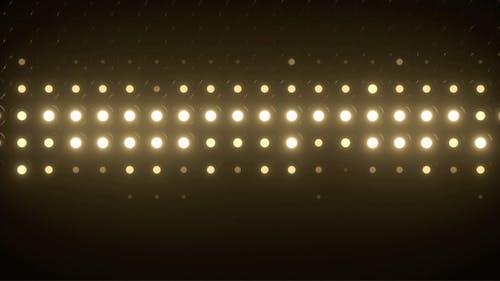 Beleuchtung Led Birne Display blinkende Lichter Motion Grafiken Hintergrund Schleife