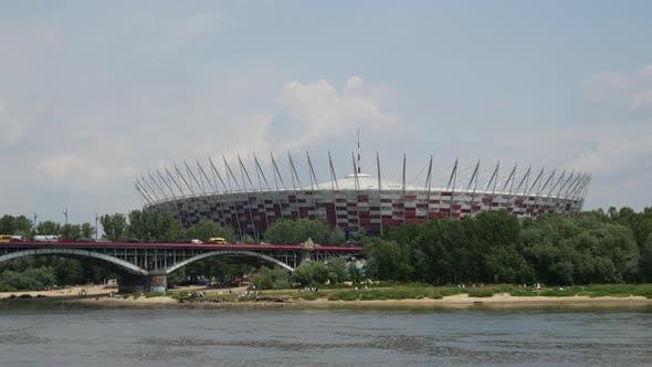Thumbnail for Time lapse of the Poniatowski Bridge
