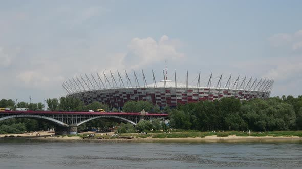 Time lapse of the Poniatowski Bridge