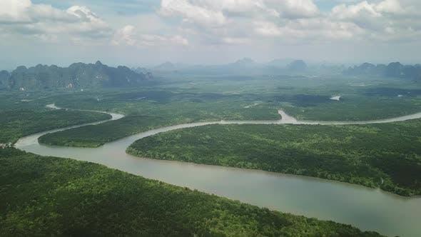 Thumbnail for Aerial View of Phang Nga Bay Mangrove, Thailand