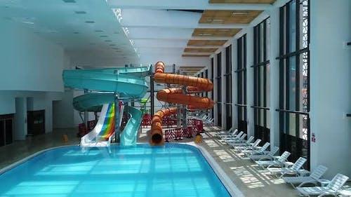 Aquapark And Slide Aerial View
