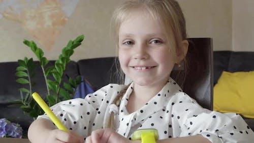 First Grader Smiling Portrait
