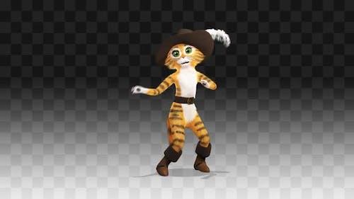 Puss in Boots dancing Samba