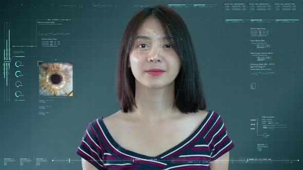 Thumbnail for Futuristische biometrische Retina-Erkennung